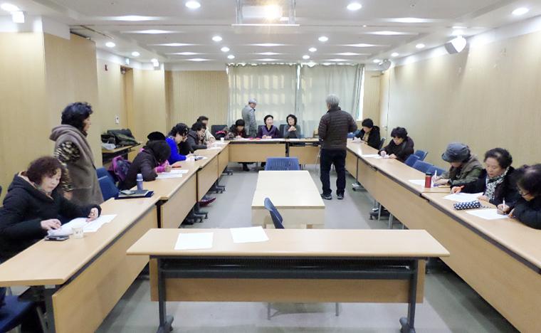 스마트폰 IT 재능봉사단 활동중